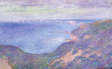 The Cliff near Dieppe Claude Monet Beach Oil Paintings