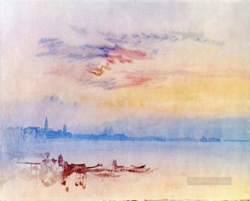威尼斯 Looking East from the Guidecca Sunrise 风景画 特纳 海滩油画、国画