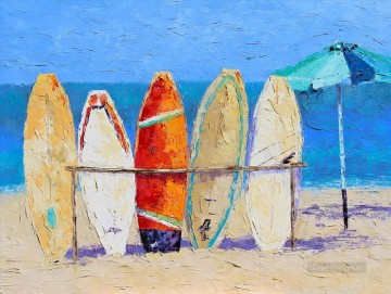 junks at beach Oil Paintings