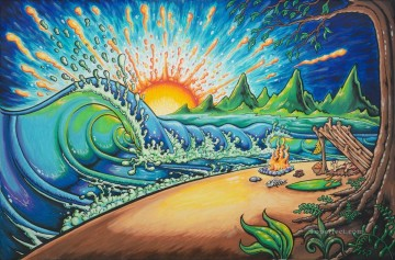 surfed out c drew brophy Oil Paintings