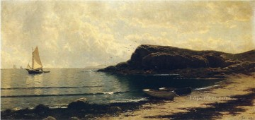 Shore Painting - Along the Shore modern beachside Alfred Thompson Bricher