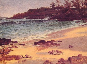 Bahama Cove Albert Bierstadt Beach Oil Paintings