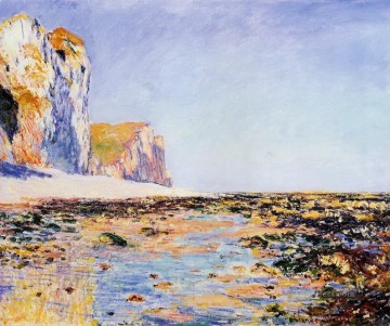 Beach and Cliffs at Pourville Morning Effect Oil Paintings