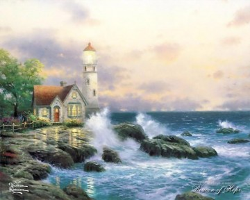 Beacon Of Hope Thomas Kinkade Beach Oil Paintings