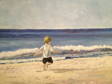 Ben On The Beach Oil Paintings