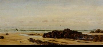 Coast Painting - Bude On The Cornish Coast landscape Brett John Beach