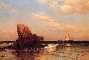 By the Shore modern beachside Alfred Thompson Bricher Oil Paintings