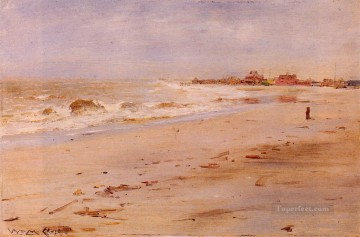 Coast Painting - Coastal View impressionism landscape William Merritt Chase Beach