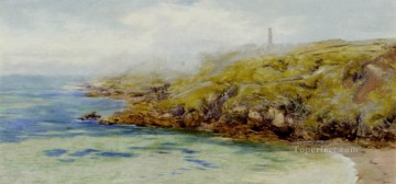 Fermain Bay Guernsey landscape Brett John Beach Oil Paintings