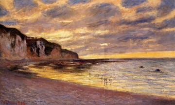 L Ally Point Low Tide Claude Monet Beach Oil Paintings