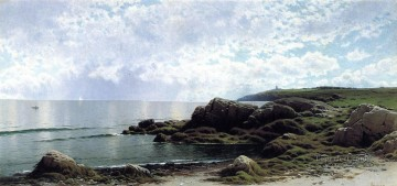 Low Tide at Swallow Tail Cove modern beachside Alfred Thompson Bricher Oil Paintings