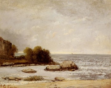 Marine De Saint Aubin landscape Gustave Courbet Beach Oil Paintings
