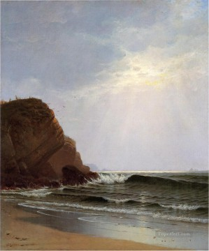 Otter Cliffs Mount Desert Island Maine modern beachside Alfred Thompson Bricher Oil Paintings