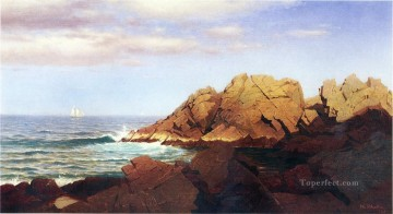 Rocks at Nahant scenery William Stanley Haseltine Beach Oil Paintings