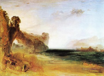 Rocky Bay with Figures Romantic landscape Joseph Mallord William Turner Beach Oil Paintings