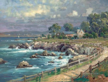 Seaside Village Thomas Kinkade Beach Oil Paintings