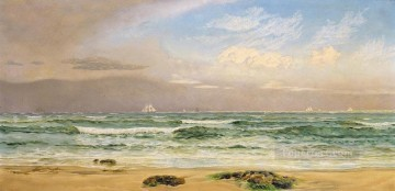 Shipping Off the Coast seascape Brett John Beach Oil Paintings