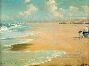 Stenbjerg beachside Peder Severin Kroyer Oil Paintings