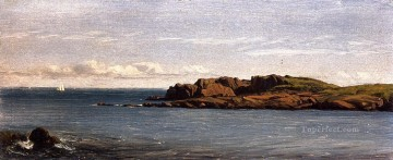Coast Painting - Study on the Massachusetts Coast scenery Sanford Robinson Gifford Beach