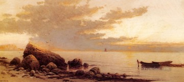 Sunset modern beachside Alfred Thompson Bricher Oil Paintings