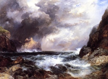 Tantallon Castle North Berwick Scotland seascape Thomas Moran Beach Oil Paintings
