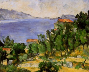 The Bay of L Estaque from the East Paul Cezanne Beach Oil Paintings