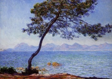 mountains Canvas - The Esterel Mountains Claude Monet Beach