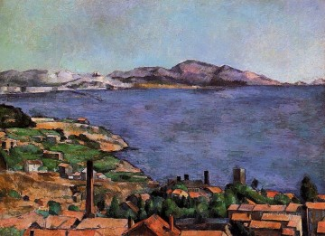 Beach Painting - The Gulf of Marseille Seen from LEstaque Paul Cezanne Beach