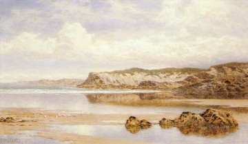 The Incoming Tide Porth Newquay landscape Benjamin Williams Leader Beach Oil Paintings