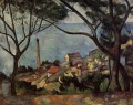 The Sea at l Estaque Paul Cezanne Beach