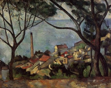 The Sea at l Estaque Paul Cezanne Beach Oil Paintings