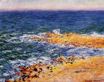 The Sea in Antibes Claude Monet Beach Oil Paintings