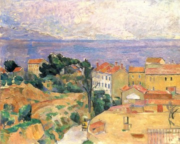 View of L Estaque Paul Cezanne Beach Oil Paintings