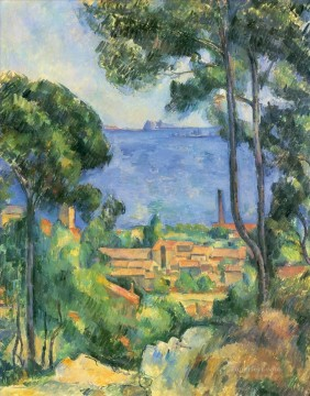 View of L Estaque and Chateaux d If Paul Cezanne Beach Oil Paintings