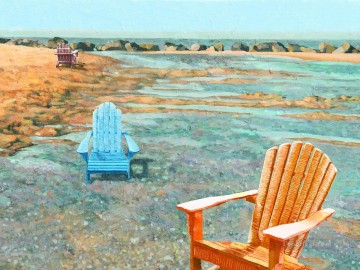 beach final chair Oil Paintings