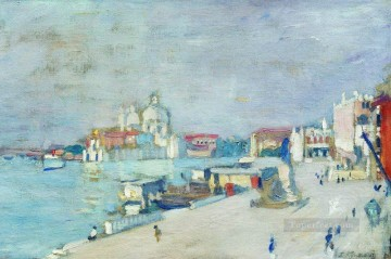 nice 1913 Boris Mikhailovich Kustodiev beach landscape Oil Paintings