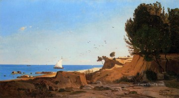Around the Cap Couronne near Marseille scenery Paul Camille Guigou Beach Oil Paintings