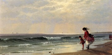 Beach Painting - At the Shore modern beachside Alfred Thompson Bricher