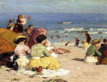 Beach Scene with people Oil Paintings
