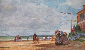Boudin Eugene Louis Beach at Trouville 1863 II Oil Paintings