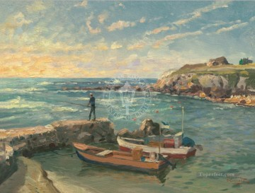 Caesarea Thomas Kinkade Beach Oil Paintings