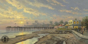 Capitola Sunset Thomas Kinkade Beach Oil Paintings