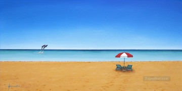 Caribbean beach Oil Paintings