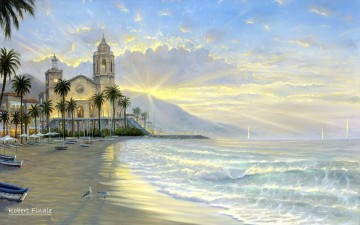 Costa Azul RF Beach Oil Paintings