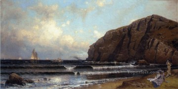 Beach Painting - Cushing Island Portland Harbor modern beachside Alfred Thompson Bricher