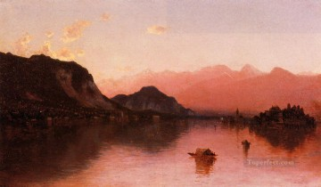 Isola Bella Lago Maggiore a Sketch scenery Sanford Robinson Gifford Beach Oil Paintings