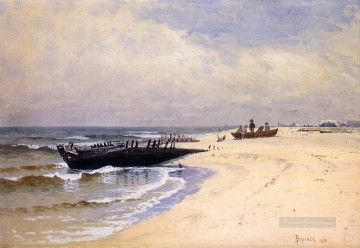 Low Tide modern beachside Alfred Thompson Bricher Oil Paintings