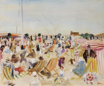 Beach Painting - Lucien Adrion The Beach 1929