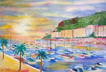Marina French Riveria Oil Paintings