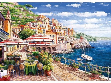 Mediterranean 14 Beach Oil Paintings
